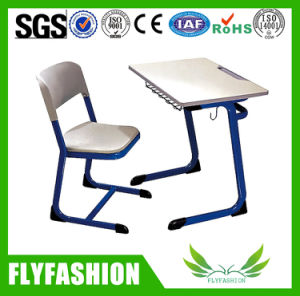 High Quality Classroom Furniture Single Table with Chair (SF-50S) pictures & photos
