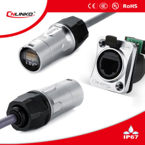 IP65 CAT6 Waterproof RJ45 Connector with Dust Cap pictures & photos