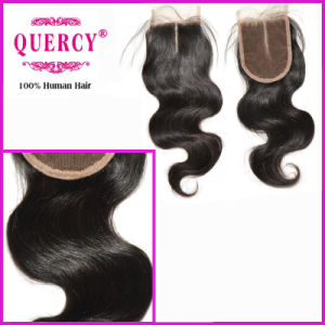 2017 Hot Selling Beauty Brazilian Virgin Remy Silk Top Body Wave Lace Closure pictures & photos