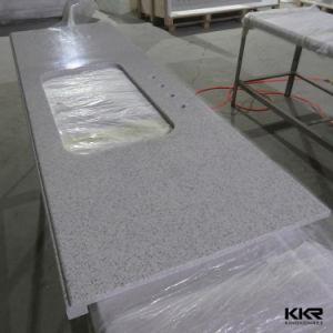 Artificial Quartz Stone Pure White Bathroom Vanity Top pictures & photos
