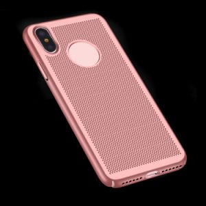 Breathable Cooling Mesh Hard Phone Cover Case for iPhone X 8 Heat Dissipation pictures & photos
