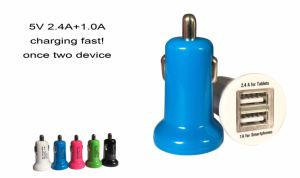 2017 Upgraded Version 5V 2.4A+1.0A Mobile Phone Portable Dual USB Car Charger pictures & photos