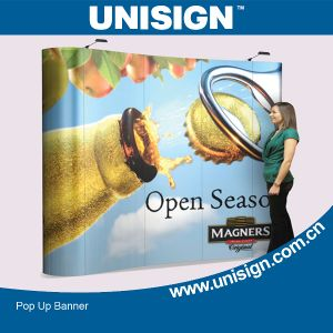 Unisign Hot Selling Pop up Banner (3X3m, 3X4m, 4X4m) (UP-A, UP-B, UP-C) pictures & photos