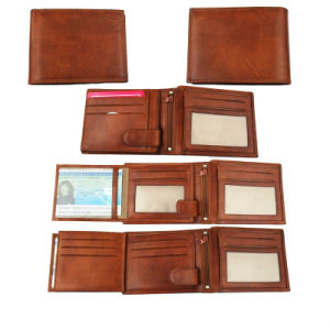 High End Designer Short Calf Leather 3 Billfold Wallet for Men pictures & photos