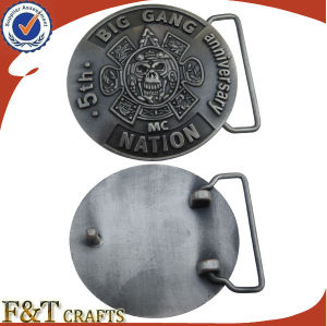 High Quality Antique Metal Belt Buckle with Custom Logo Buckle (FTBB2803A) pictures & photos