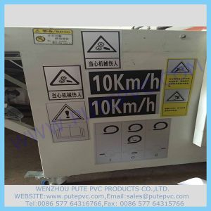 PT-St-005 Adhesive Security Warning Attention Sticker PVC Customized Adhesive Warning Label