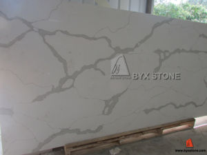Calacatta Gold Artificial Quartz Slab for Counterop and Wall Tile pictures & photos