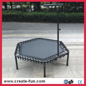 Createfun European Standard Hexagonal Fitness Trampoline with Handle
