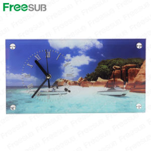 Freesub Sublimation Coated Glass Photo Frame with Clock (BL-28) pictures & photos