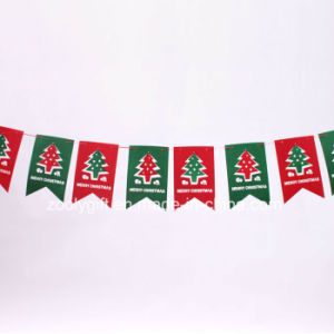 Die-Cut Felt DIY Christmas Holiday Flag Decorations Ornament pictures & photos