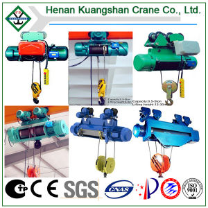 Single and Double Lifting Speed Electric Telpher Wire Rope Hoist pictures & photos