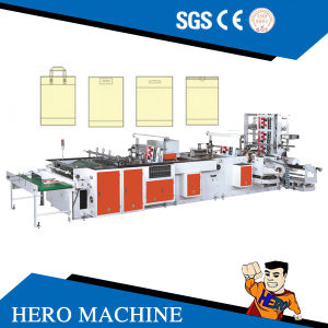Hero Brand Computer Control High-Speed Double Layer Vest Rolling Bag-Making Machine (DZB500-800) pictures & photos