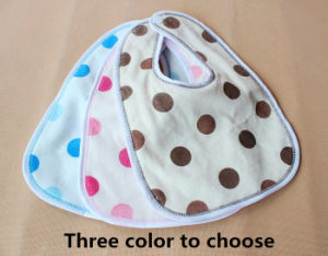 Baby Velour Water Proof Bib with DOT Design Made From China pictures & photos