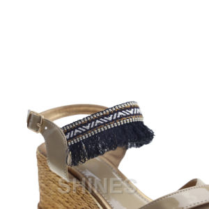 Ladies Fashion High Heel Sandal with Tassels pictures & photos