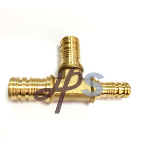 Brass 90 Elbow Fitting for Pex Plastic Pipe pictures & photos
