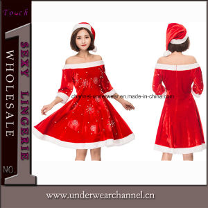 2018 Sexy Delightful Santa Sweetie Adult Christmas Dress Costume (TLQZ051) pictures & photos