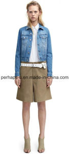 New Women Slim Denim Jeans Coat Outer Wear Outdoor Jacket pictures & photos