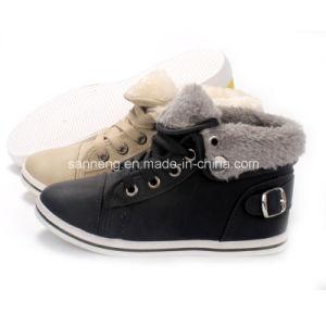 Winter Cotton PVC Injection Shoes for Children (SNC-45041) pictures & photos