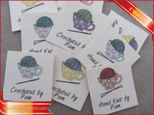 Nice Printed Garment Cotton Label Printed Main Label pictures & photos