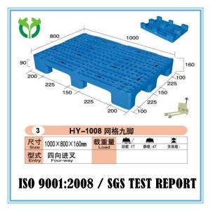 1000*800 Nine Feet Single Face Custom Used Plastic Pallet