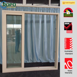3 Tracks Double Glass UPVC Stacking Sliding Door 10 Years Warranty pictures & photos