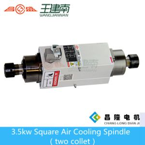3.5kw Er25 High Speed Square Air Cooling CNC Spindle for Wood Carving with Two Head pictures & photos
