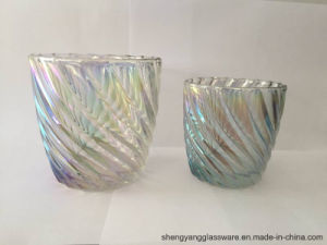 Tea Light Ion Plating Glass Candle Jar Cup for Festival Celebrate pictures & photos