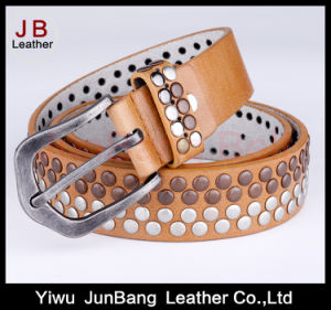 Hot Sale Handcrafted Studded Rivet Womens PU Belts
