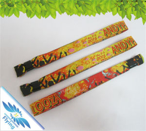 Beautiful Woven Hand Bands Custom Fabric RFID with Chip for Festival