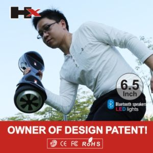 UL2272 Have Apporved 36V LED Light Smart Balance Scooter Electric Skateboard pictures & photos