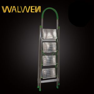 4 Step Household Folding Stainless Steel Ladder pictures & photos