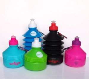 500ml Tower-Type Foldable Plastic Drinking Bottle, Portable Water Bottle pictures & photos