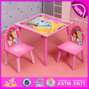 Lovely Design Primary School Table and Chairs, Modern Design Square Wooden Cheap Table and Chairs W08g152 pictures & photos