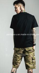 New Style Slub Cotton Mens Street Printing T-Shirt pictures & photos