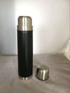 Eco-Friendly Double Wall Stainless Steel Vacuum Cooling Thermos with Rubber Coating pictures & photos