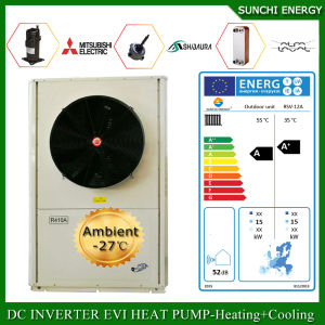 Europe -25c Cold Winter Floor House Heating 100~350sq Meter Villa 12kw/19kw/35kw Defrost Split Evi Air to Water Heat Pump Sales pictures & photos