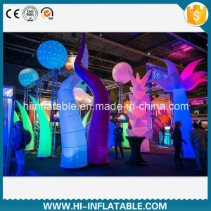 Best-Sale Club / Event Use LED Light Inflatable Pillars Decoration