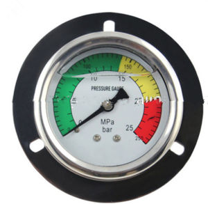 Black Steel Case Back Type with Flange Common Pressure Gauge pictures & photos