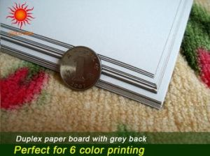 Dyed Brown, One-Side White Duplex Board with Grey Back pictures & photos