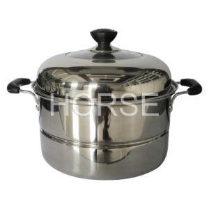 Kitchen Cookware Stainless Steel Steam Pot (ZG-001)