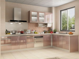 High Quality MDF with Melamine Surface Lower Kitchen Cabinets pictures & photos