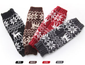 Women Fashion Acrylic Knitted Winter Gloves Arm Warmer (YKY5451) pictures & photos