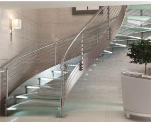 Stainless Steel Balustrade Glass Curved Stair pictures & photos