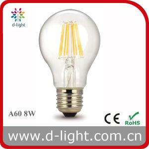 A60 8W LED Vintage Bulb Warm White 220V 230V 240V pictures & photos