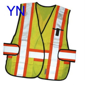Pockets Knitted Mesh Safety Vest pictures & photos