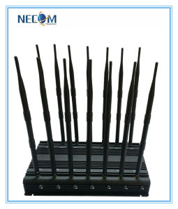 High Power Jammer for Jail, Library, Theater, Church, 3G GPS Bluetooth Full-Band Wireless Cell Phone Signal Jammer with 14 Antenna pictures & photos