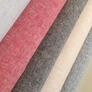 Soft Natural Linen Cotton Blend Fabric