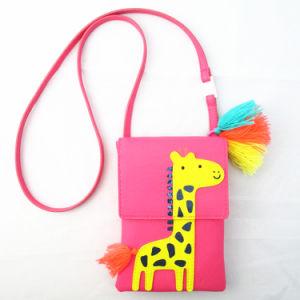 Girls Giraffe Cross Body Pink PU Bag pictures & photos