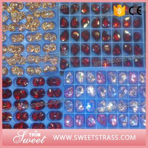 Point Back Crystal Sew on Glass, Point Back Sew-on Glass Crystal pictures & photos