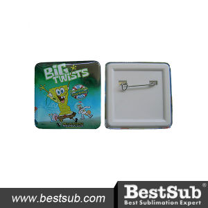 Bestsub Personalized Promotional 35mm Square Button Badge (XK35) pictures & photos